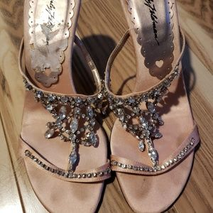 Beverly Feldman beaded sandals